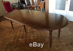 Ancienne Grand Table De Salle A Manger Chene Massif 6 Chaises