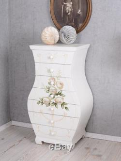 Commode Country Style Rose Enclacents Table de Chevet Placard Antique Bois neuf