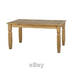 Corona 5' Dining Table King Size Distressed Waxed Pine