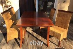 Table + 4 chaises Style Colonial